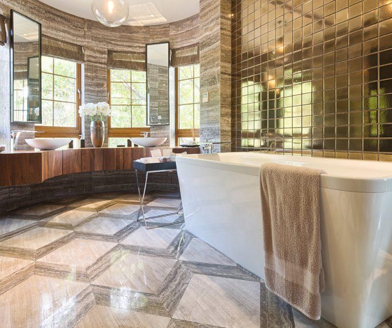 Create a home bathroom spa
