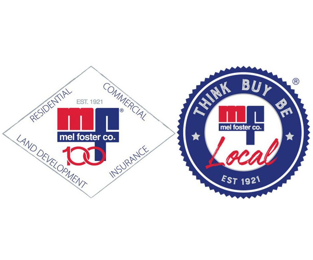 Mel Foster Co. logo and Think Buy Be Local logo